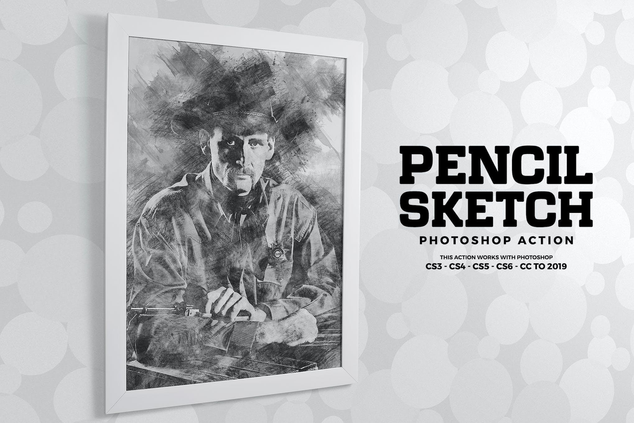 Pencil sketch photoshop action by ab designer on envato elements