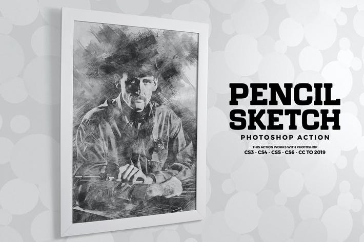 Thumbnail for Действие Photoshop Sketch карандаша