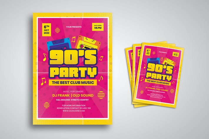 Thumbnail for Ninety DJ Party Flyer