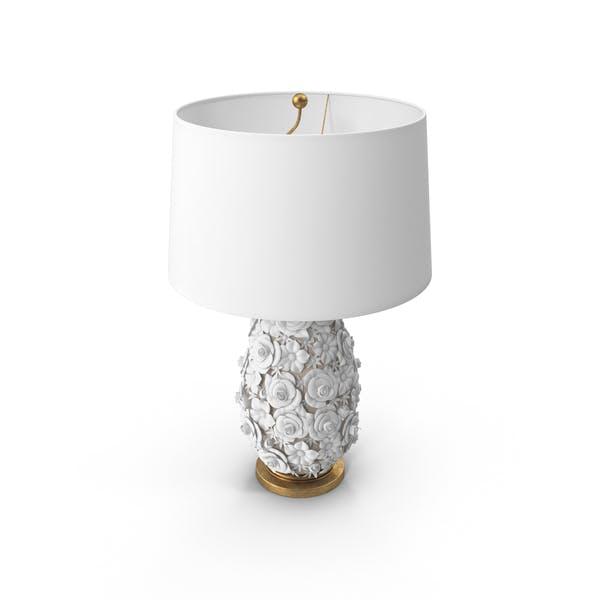 Фарфоровая настольная лампа