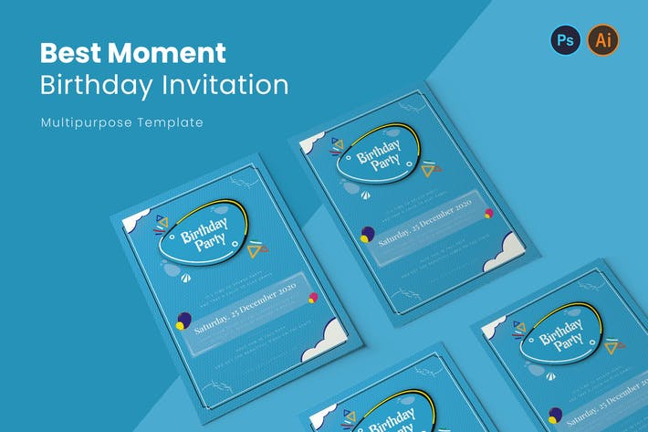 Thumbnail for Best Moment Birthday Invitation