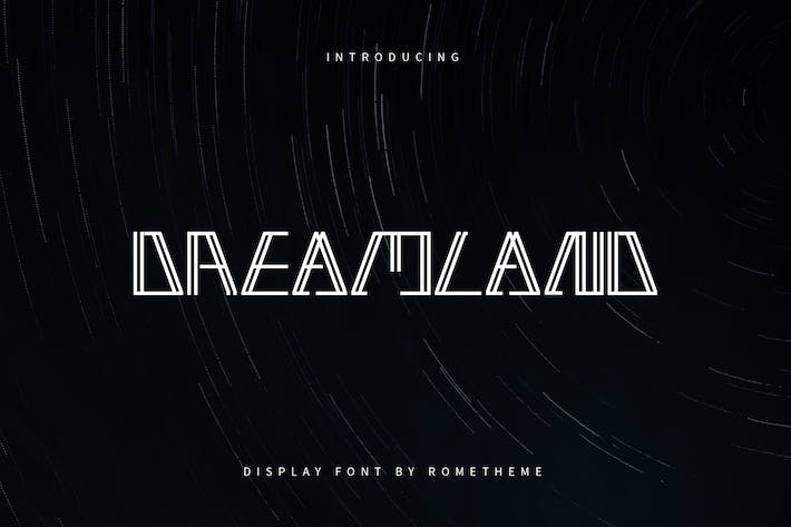 Thumbnail for Dreamland - Display Font DR