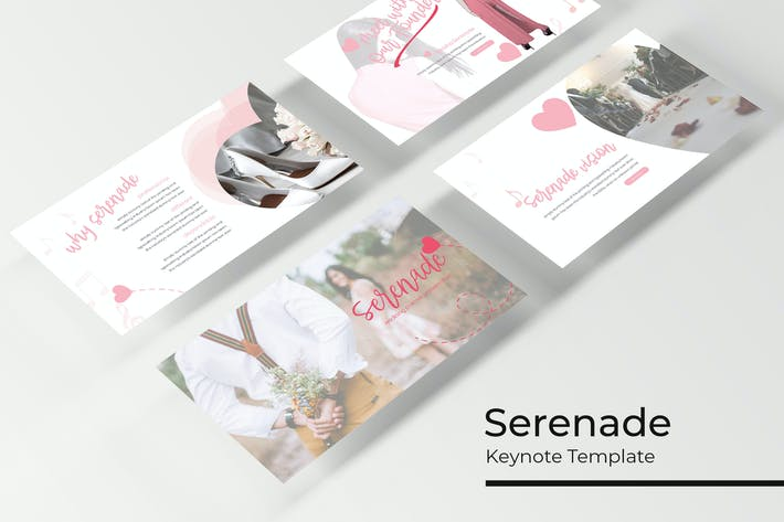 Cover Image For Serenade - Plantilla de Keynote