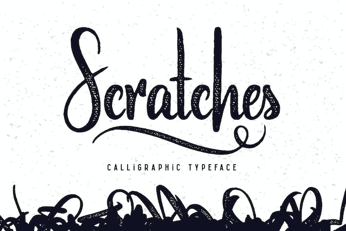Thumbnail for Scratches calligraphic font
