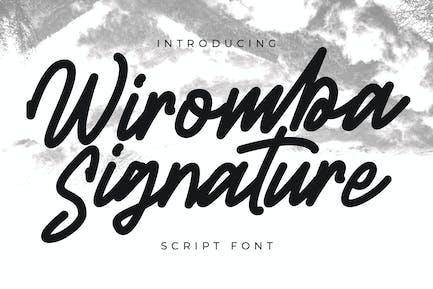 Fuente del script de firma de Wiromba