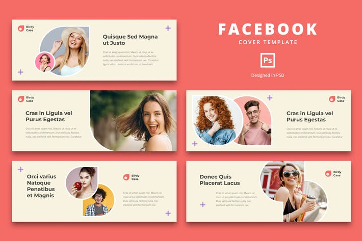 Thumbnail for Facebook Cover Template Trend Fashion
