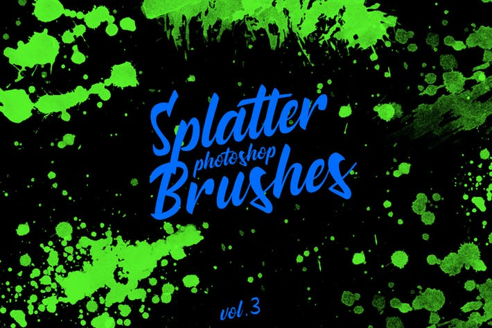 Thumbnail for Splatter Stamp Photoshop Brushes Vol. 3