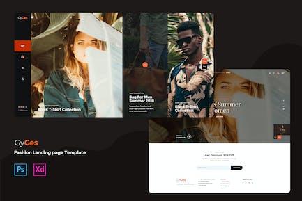 Creative Fashion landing page template