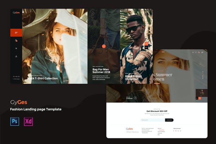 Thumbnail for Creative Fashion landing page template