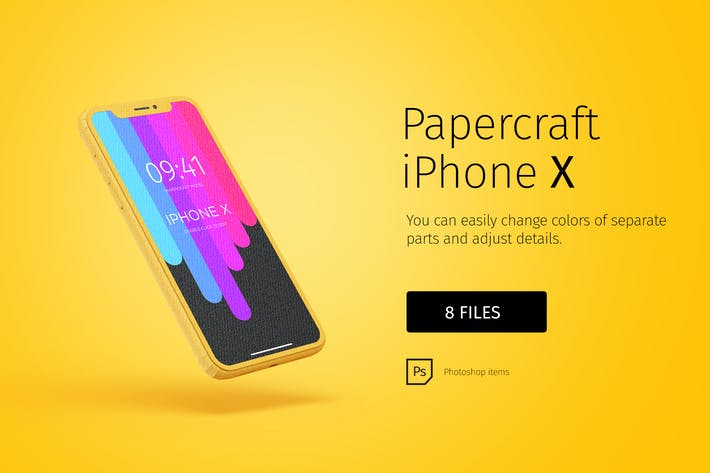 Thumbnail for Paper model iPhone X