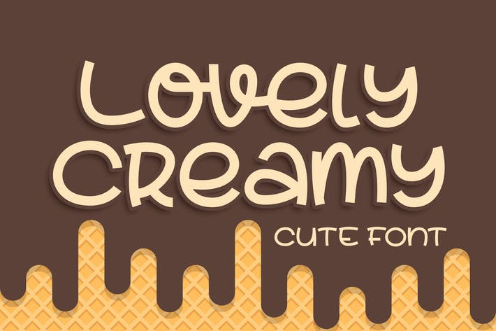 Thumbnail for Lovely Creamy a Cute Font