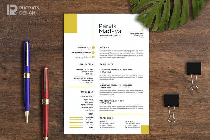 Thumbnail for Minimalist CV  Resume R18 Template