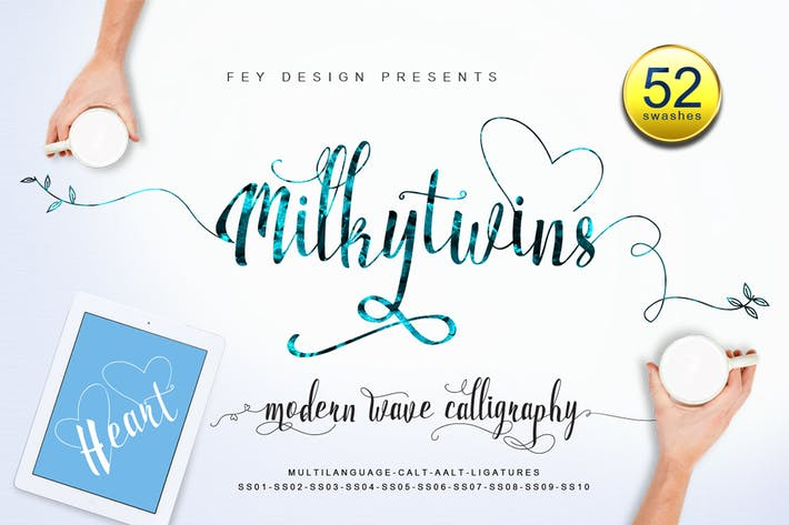 Thumbnail for Milkytwins - Script Font