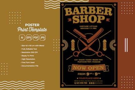 Barbershop #01 Poster Print Template