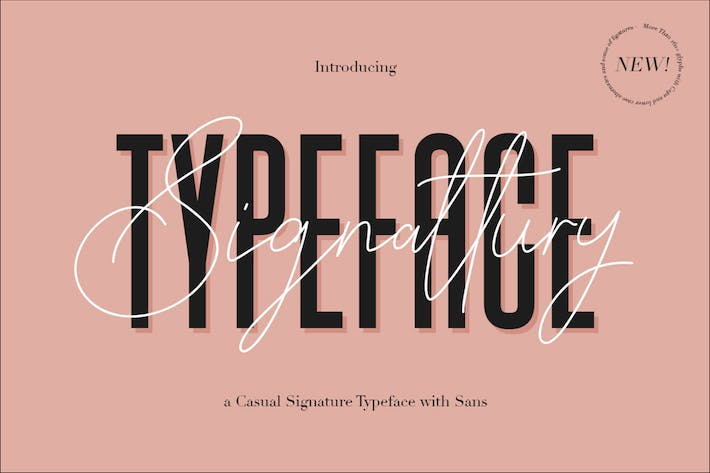 Cover Image For Signattury Signature Font - Free Sans