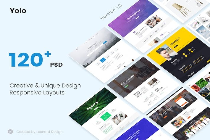 Thumbnail for Yolo | Responsive Multi-Purpose PSD Template