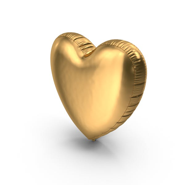 Cover Image for Foil Balloon Heart Gold