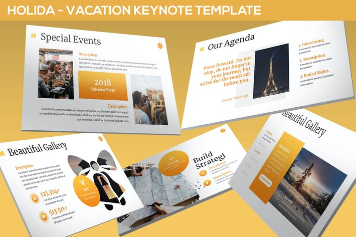 Thumbnail for Holida - Vacation Keynote Template