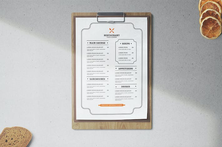 Thumbnail for Restaurant Menu Template Minimalist