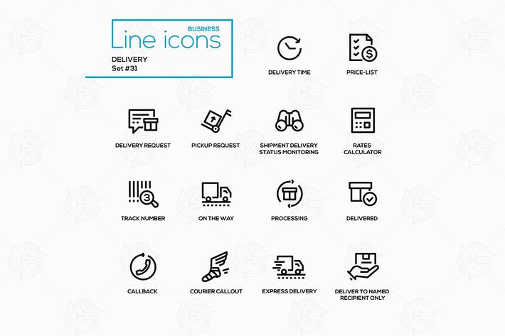 Thumbnail for Delivery - modern vector single line icons set