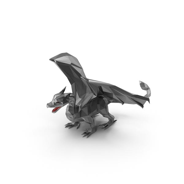 Thumbnail for Low Poly Silver Dragon