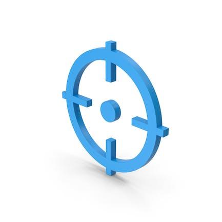 Symbol Aim Blue