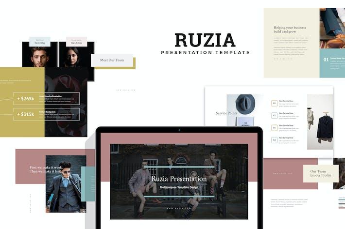 Ruzia : Luxury Fashion Google Slides
