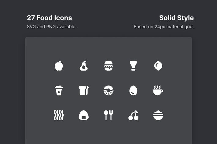 Thumbnail for Food Icons - Solid Style