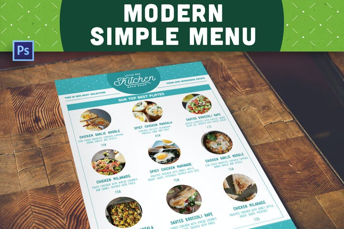 Thumbnail for Modern Simple Menu