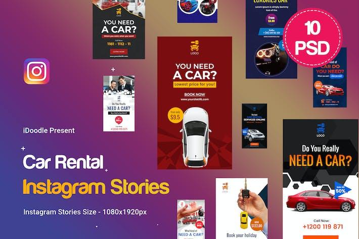 Thumbnail for Car Rental Instagram Stories