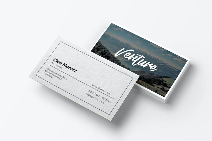 Cover Image For Venture - Minimal Business Card