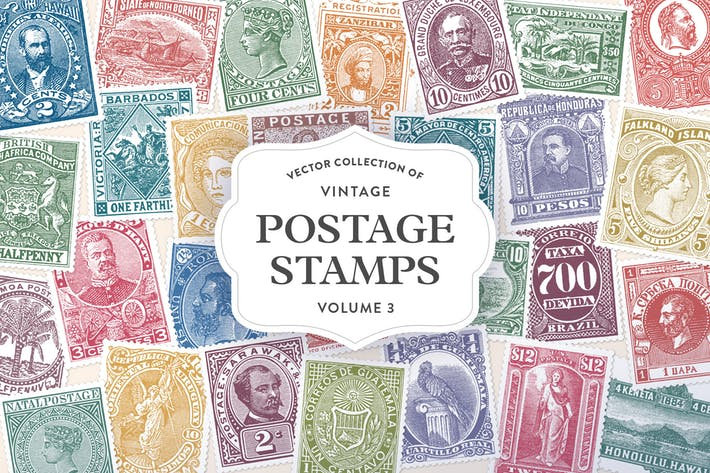 Thumbnail for Vintage Postage Stamps Vol. 3
