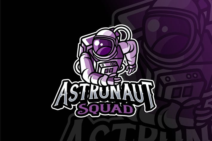 Thumbnail for Astronaut Squad Logo Template