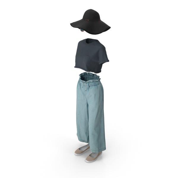 Women's Pants Shirt Shoes Hat Sunglasses