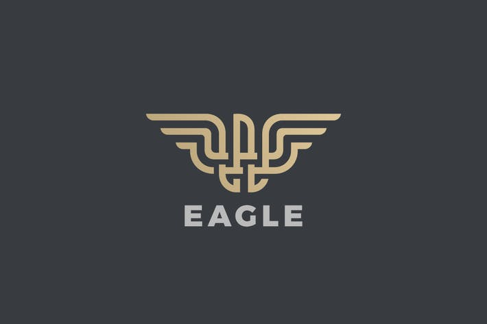 Thumbnail for Logo Eagle Bird Luxury Linear style
