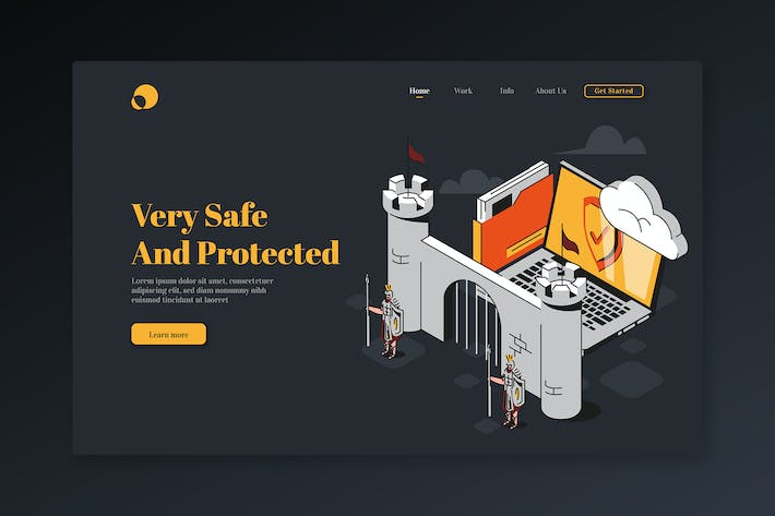 Very Safe And Protected - Isometric Landing Page