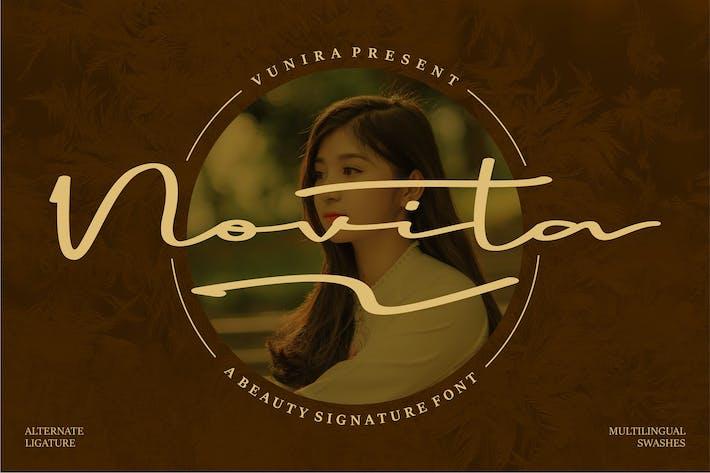 Thumbnail for Novita | A Beauty Signature Font