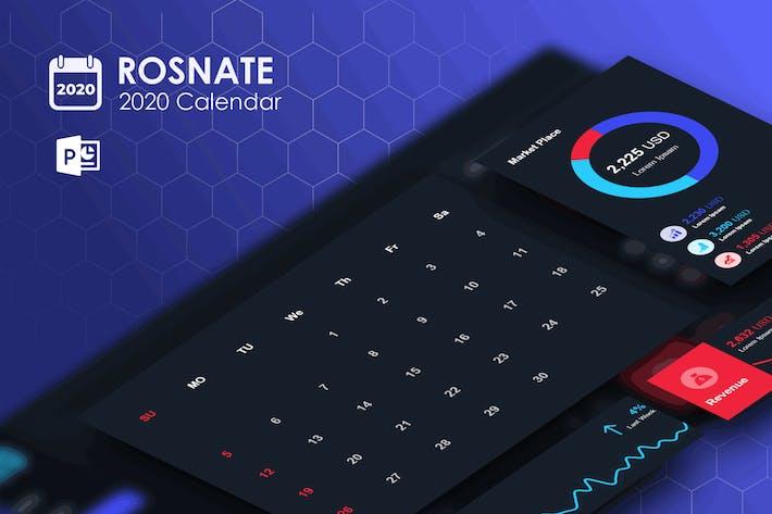 Thumbnail for Rosnat – 2020 PowerPoint Calendar Template
