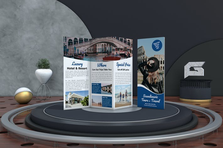Thumbnail for Travel Tri-Fold Brochure