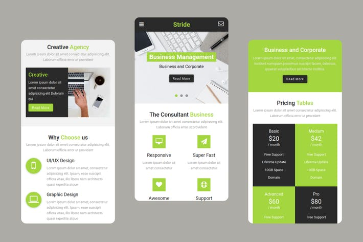 Thumbnail for Stride - Business and Agency Mobile Template