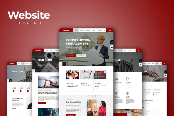 Thumbnail for Corporate Business Website Templates
