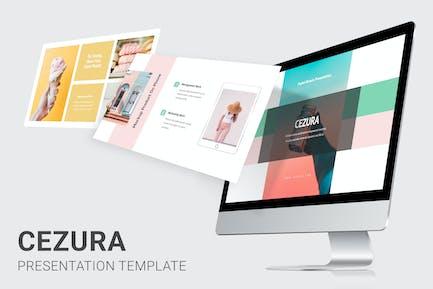 Cezura - Pastel Colors Pitch Deck Powerpoint