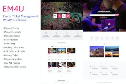 EM4U - Entradas Evento WordPress Tema