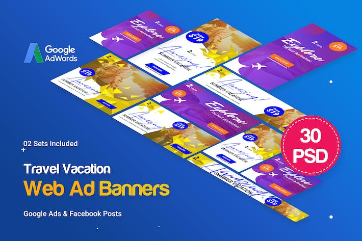 Cover Image For Travel Vacation Banner Ad