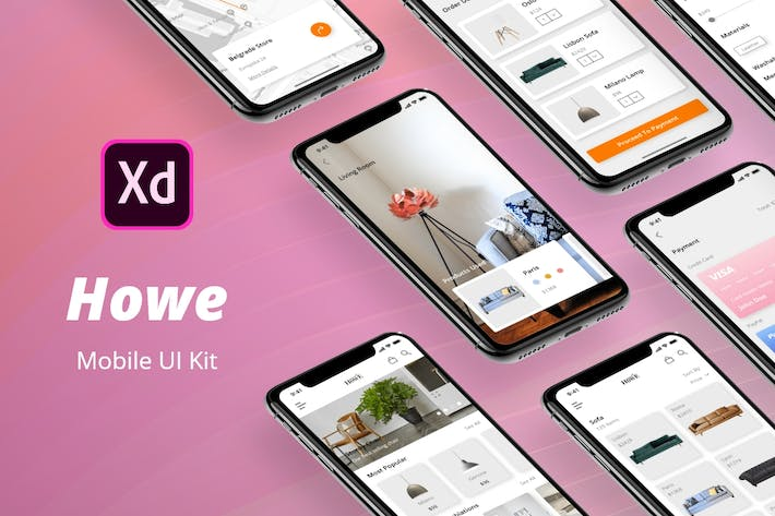 Thumbnail for Howe Mobile UI Kit