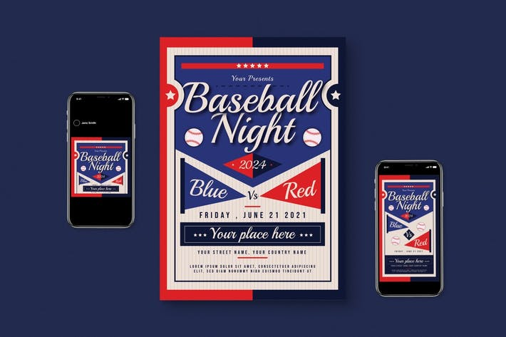 Thumbnail for Baseball-Flyer -Set