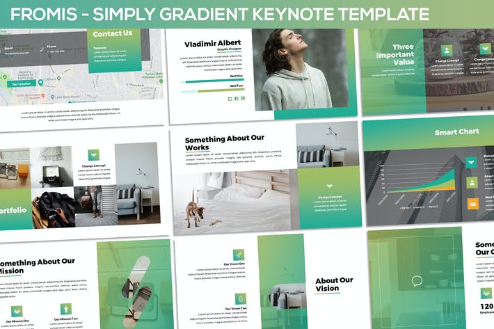 Thumbnail for Fromis - Simply Gradient Keynote Template