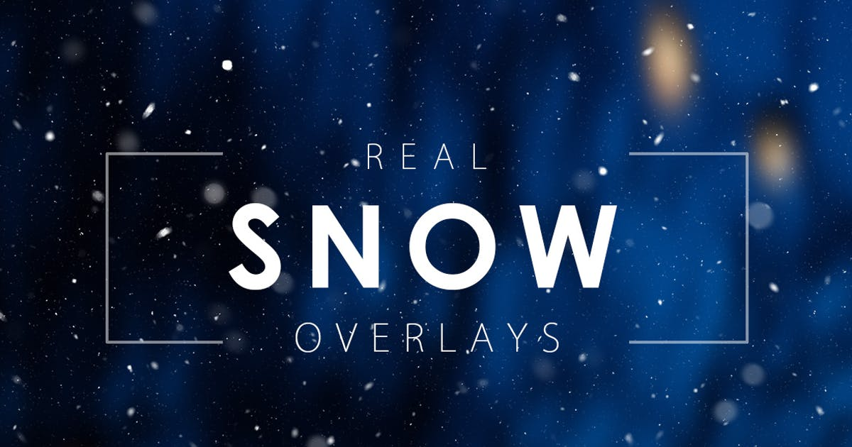 Download Real Snow Overlays by M-e-f