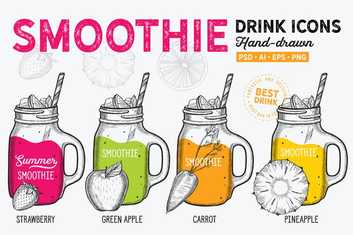 Thumbnail for Smoothie Hand-Drawn Graphic