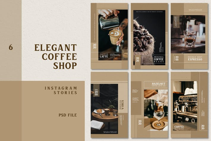 Thumbnail for Eleganter Coffee Shop Instagram Stories